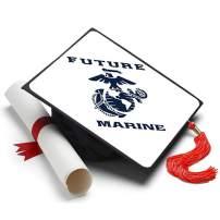 Tassel Toppers Marine Corps - Graduation Caps for Future Marines - Semper Fi - Decorated Grad Caps