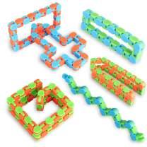 Ganowo 6PCS Fidget Toys, Snake Cube Twist Puzzle Party Favors Bulk Toys Classroom Rewards Goodie Bags Fillers for Sensory Kids Adults Teens