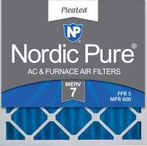 Nordic Pure 20x20x2 MERV 7 Pleated AC Furnace Air Filters, 3 PACK, 3 PACK