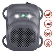 Angveirt Under Hood Rodent Repeller LED Strobe Lights for Cars Repellent Keep Rodent Away from Your Car Engine Under Hood Animal Repeller for 12V 24V Vehicle, Grey