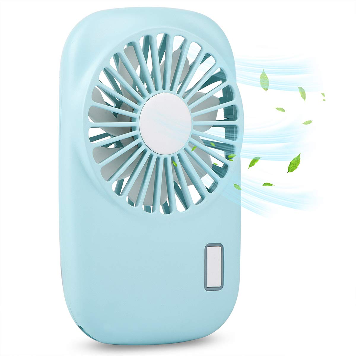 Accering Portable Fan, Mini Pocket Fan with 2 Speed Adjustable, Small Handheld Imitation Camera Personal Fan USB Rechargeable or Battery Powered, for Woman/Man/Girls/Boys (Blue)