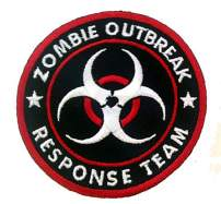 Zombie Outbreak Response Team Biohazard Logo Novelty Iron On Patch Applique