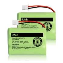 iMah Ryme B21 Battery Compatible with VTech VM312 VM3251 VM3252 VM3261 Baby Monitor (The Connector only fits Motorola Newer 800mAh Version: MBP33S MBP36 MBP36S MBP33XL MBP481 MBP482 MBP483), 2-Pack