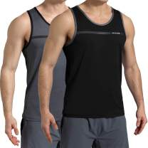 VAYAGER Men's Quick Dry Workout Tank Tops Bodybuilding Gym Athletic Training Sleeveless Shirts