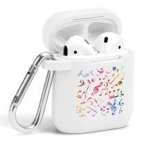 Case for Air Pods - Cute Flexible Protector Silicone Holder Cover with Keychain Accessories Compatible with Airpods 1 2 Music Group