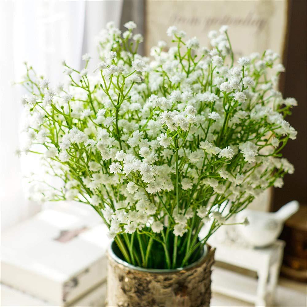 Nerseki 10pc Artificial Baby Breath Gypsophila Flower Wedding Home Decor Gift