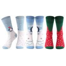 Diwollsam Christmas Socks, 3/4/5/6 Pairs Men's Women's Crazy Ugly Gift Holiday Socks