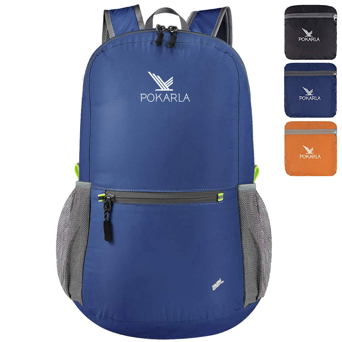 POKARLA 20L Hiking Backpack Lightweight Packable Water Resistant Travel Daypack