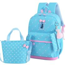 JiaYou Girls Cute Lunch Bag Purse/Pencil Bag School Backpack 3 Sets(20L,3# Blue)