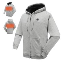 N NIFVAN Heated Hoodie with 7.4V Battery Pack for Men Women Full-Zip Fleece Hooded Sweatshirt