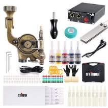 Stigma tattoo gun Complete Tattoo Kit Pro Rotary Tattoo Machine Kit Power Supply Color Inks with Case MK682B