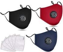 3 PCS Washable Reusable Adjustable Cotton Face Madks, B2N2B