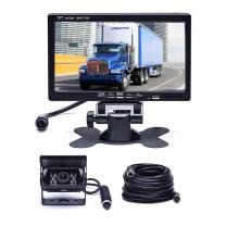 """Car Backup Camera System, Hikity Waterproof 18 IR LED Night Vision Reverse Camera + 7"""" TFT Rear View Monitor Vehicle Parking System for RV/Bus/Trailer/Truck (65ft 4-Pin Aviation Video Cable)"""