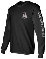 Gadsden and Culpeper Long Sleeve T-Shirt Black Sic Semper Tyrannis