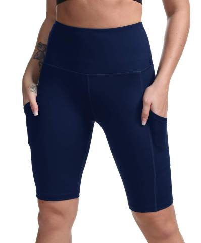 Womens Fit High Waist Yoga Shorts Workout Biker Running Hiking Sports Shorts 4 Way Stretch Yoga Leggings
