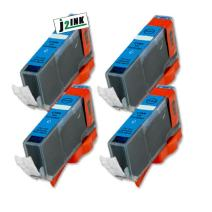 J2INK Compatible Ink Cartridge Replacement for Canon CLI-226 (4 Cyan) 4 Pack CLI-226C