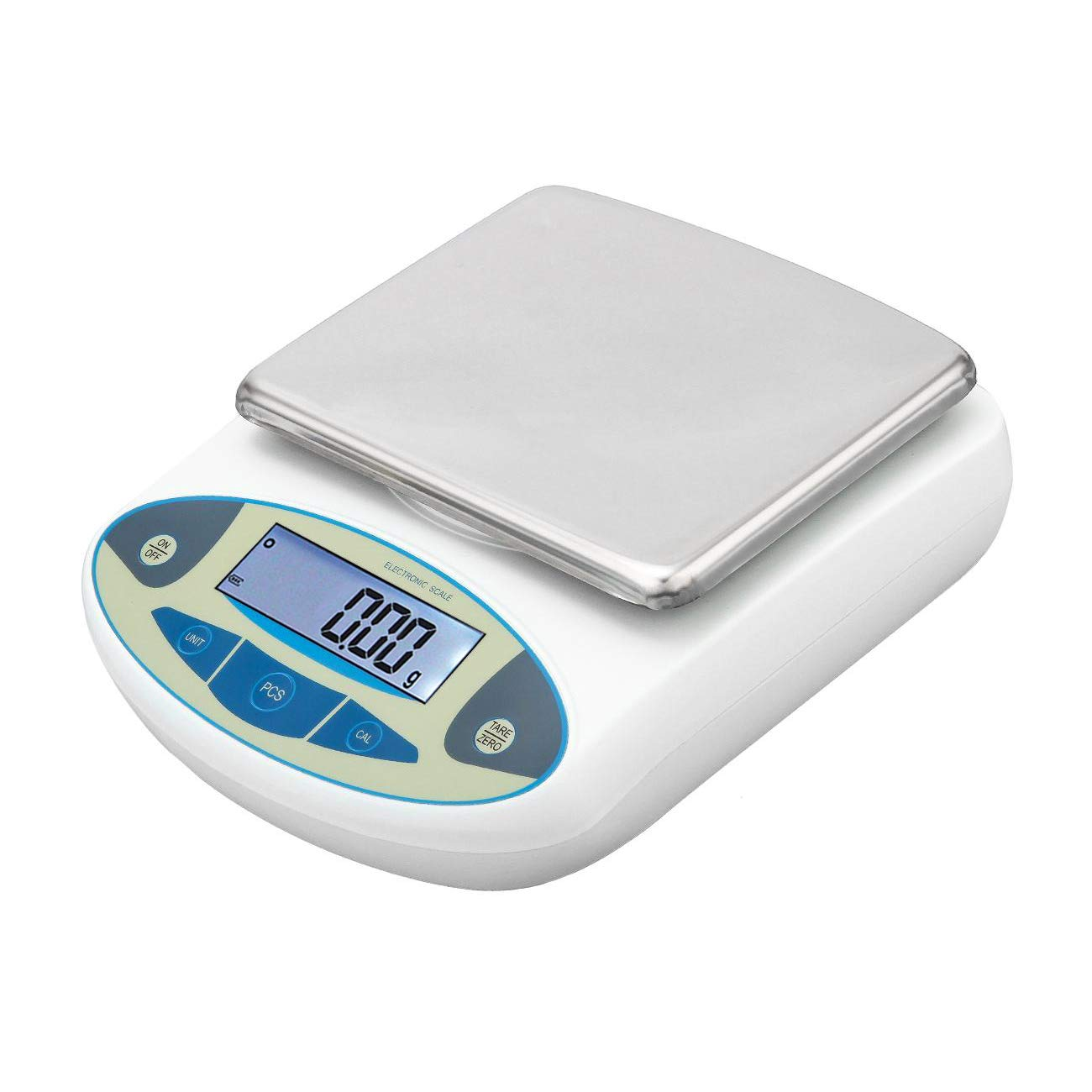 WICHEMI Lab Analytical Electronic Balance Scale 0.01/5000 Gram Scale Laboratory Balance Digital Kitchen Balance Scale Jewelry Gold Scale High Precision Balance Weighing Scales