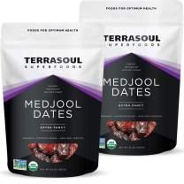Terrasoul Superfoods Organic Medjool Dates, 4 Lbs - Soft Chewy Texture | Sweet Caramel Flavor | Farm Fresh