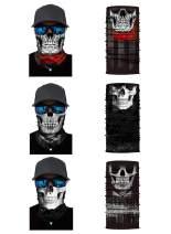 3 Pieces Seamless Neck Gaiter Bandana Rave Mask Headwear Tube Dust Mask Headband Balaclava for Men Women