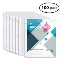 INFUN Sheet Protectors 8.5 x 11 Clear Sheet Protectors Page Protectors Top Loading Reinforced 3 Holes Archival Safe - 100Pack