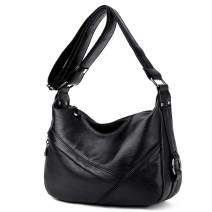 Women's Retro Sling Shoulder Bag, Faux Leather Crossbody Handbags Hobo Tote Messenger Bags for Women/Ladies/Girls