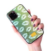 Aulzaju Case for iPhone 11 Pro 5.8 Inch, iPhone 11 Pro Bling Beauty Frame Sexy Lip Case Shiny Stylish Hard Colorful Shockproof Cover for iPhone 11 Pro for Girls Women-Green