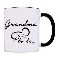 Grandma to be, Pregnancy Announcement Coffee Mug-0086-Black