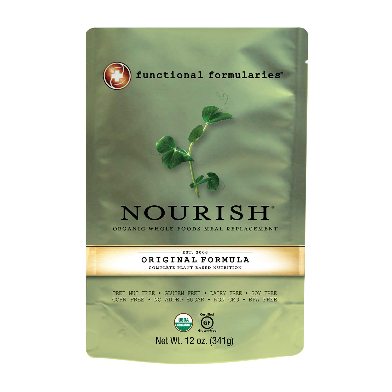 Functional Formularies Nourish Organic Tube Feeding Formula and Nutritional Meal Replacement Supplement, Single