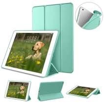 "DTTO Case for New iPad 7th generation 10.2"" 2019, [Gentle Series] Slim Fit Lightweight Smart Trifold Stand with Soft TPU Back Cover for Apple iPad 10.2 inch 2019 Released [Auto Sleep/Wake], Mint Green"