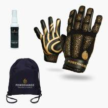 POWERHANDZ Striker Bundle Gift Set - Includes Weighted Gloves, Equipment Spray, Drawstring Bag and Wristband