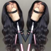 """10A 13x4 Lace Front Wigs Human Hair 22"""" Body Wave Brazilian Remy Virgin Human Hair Wigs 150% Density Long Wavy Pre Plucked Natural Hairline with Baby Hair for Black Women"""