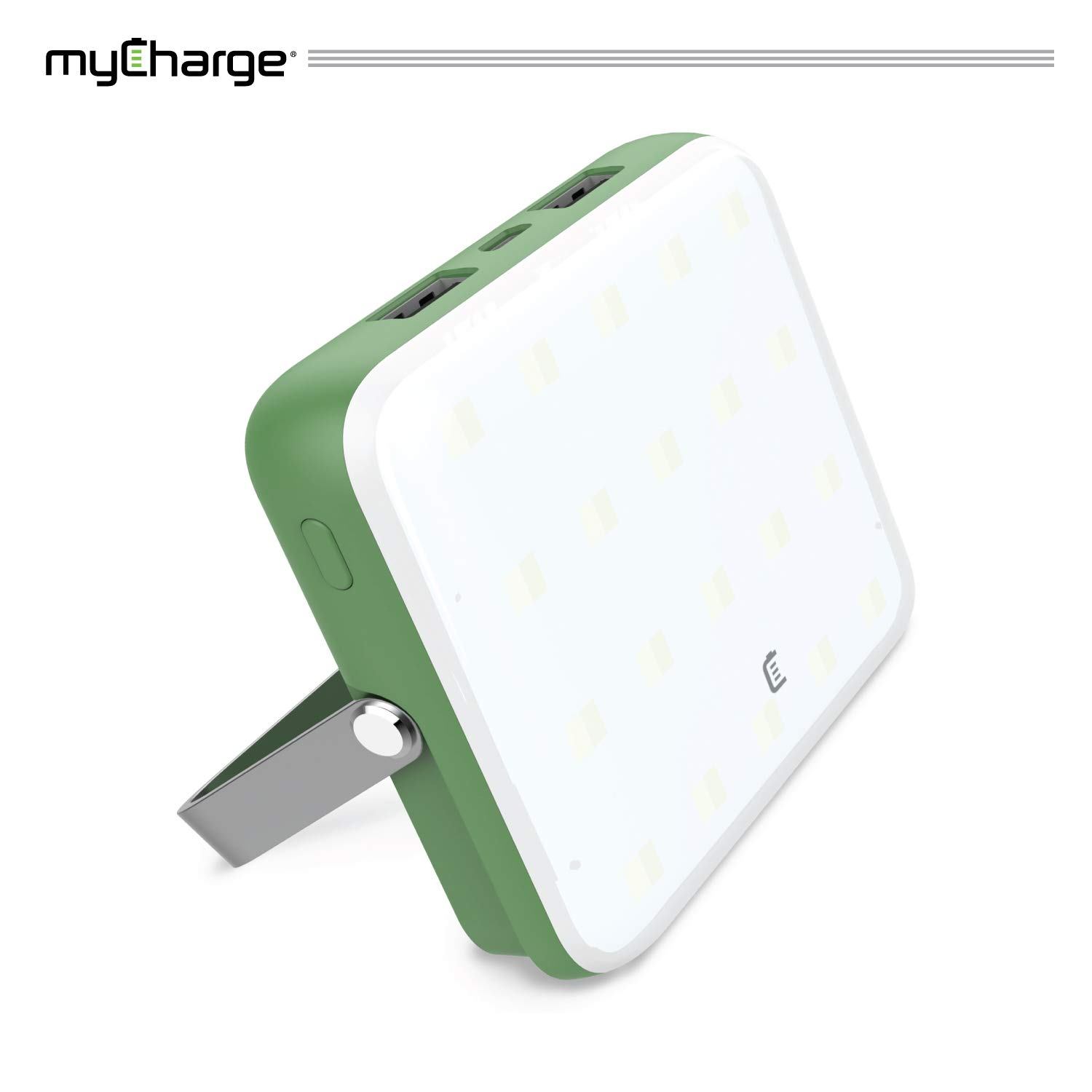 myCharge Camping Lantern Power Bank - 10,000 mAh Adventure Portable Charger | Rechargeable LED Phone Charger Battery Pack | 2 USB Ports / 2.4A Max | 40 HR Lamp Runtime / 4 Light Settings