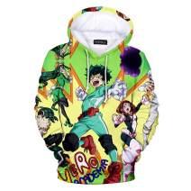 BUBABOX Boku No Hero Academia My Hero Academia Hoodies 3D Graphic Pullover Sweatshirt