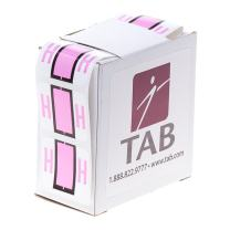 "TAB Alphabetic Folder Label Roll, H, Light Pink, 1"", 500 Labels/Roll"