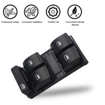 Travay Master Power Window Switch Front Left Driver Side Compatible with 2000-2008 Audi A4 B6 B7 Replacement Window Switch 8ED959851, 8E0959851B