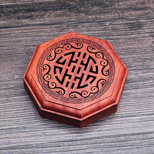 PHILOGOD Incense Coil Burner Red Pear Whole Wood Agarwood Box Embedded Magnetic Incense Holder Car Home Lying Incense Burner (style3)