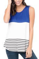 Papaya wear Uniarmoire Womens Sleeveless T-Shirts Summer Tank Tops Color Block