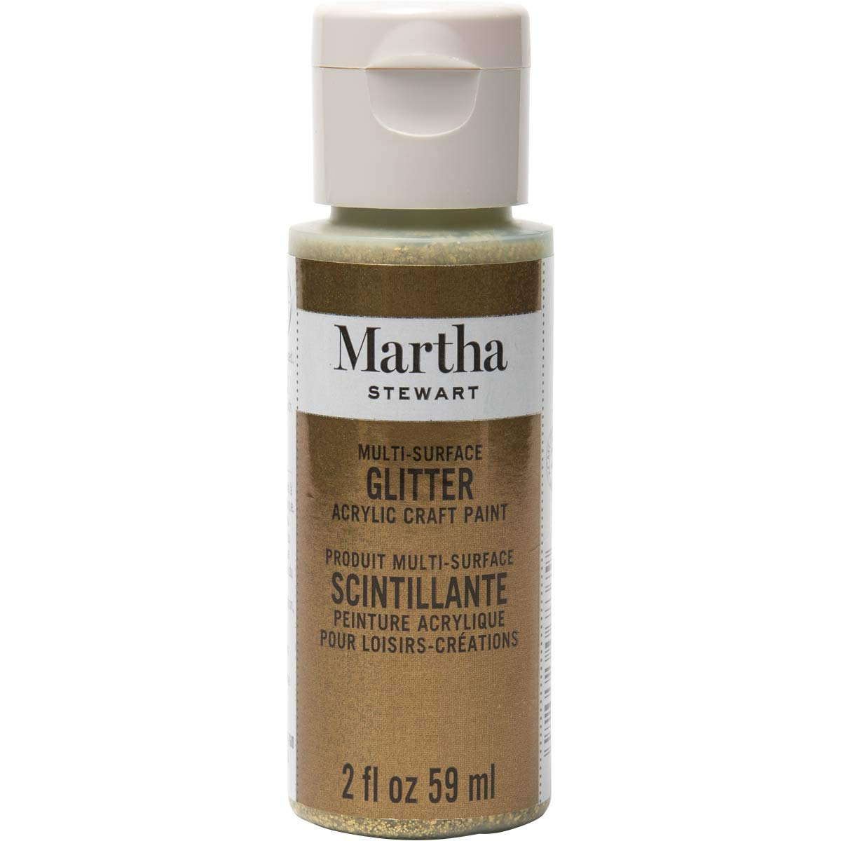 Martha Stewart Crafts Multi-Surface Glitter Craft Paint: Florentine Gold, 2 oz