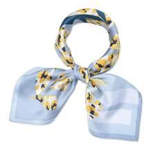 """Women Small Square Silk Neck Scarfs 100% Real Mulberry Silk 21"""" Square Corciova"""