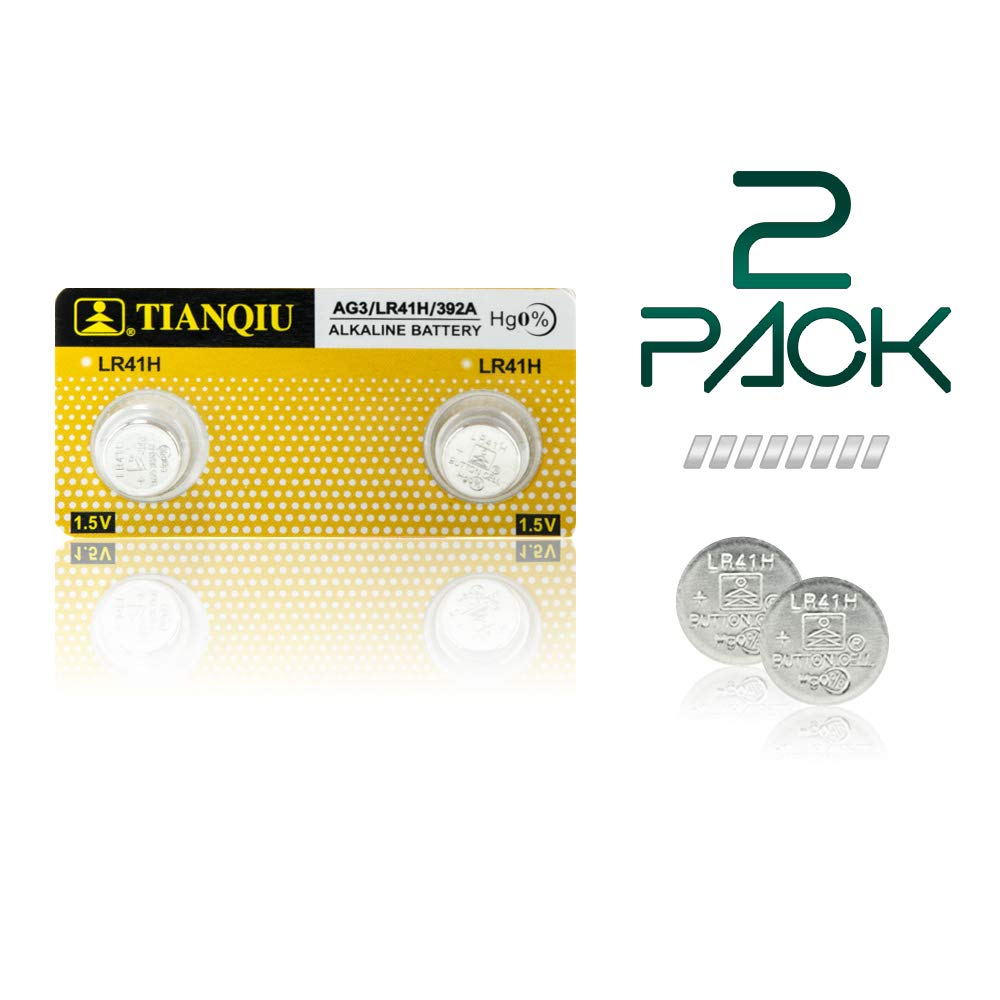 Thermometer Battery LR41 L736 GP192 392 AG3 SR41 192 – 2 Pack - Long Life 1.5 V Coin Button Cell Battery for Thermometers