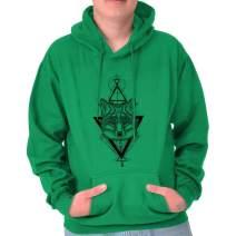 Wolf Pack Triangle Symbolic Spirit Animal Hoodie