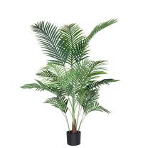 Fopamtri Artificial Areca Palm Plant 4.6 Feet Fake Palm Tree with 15 Trunks Faux Tree for Indoor Outdoor Modern Decor Feaux Dypsis Lutescens Plants in Pot for Home Office Perfect Housewarming Gift