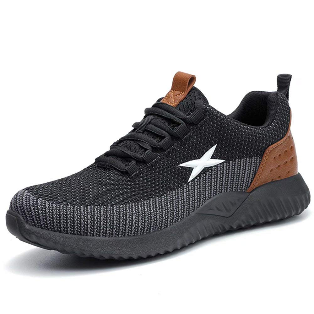 SUADEX Indestructible Steel Toe Shoes Men Women, Work Safety Shoes Sneakers Non Slip Lightweight Industrial Construction Shoe
