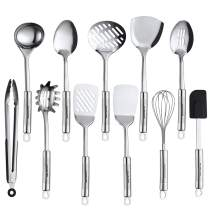 Maphyton Stainless Steel Utensils 11 Pieces Kitchen Utensil Set for Cooking with Spatula