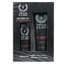 Zeus Hair Wash Set, Shampoo & Conditioner With Organic Argan Oil, Verbena Lime Scent