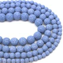 """Oameusa 10mm Violet Lava Volcanic Stone Gemstone Round Loose Beads Agate Beads for Jewelry Making 1 Strand 15"""" 1 Strand per Bag-Wholesale"""