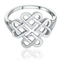 Sea of Ice Ring Infinity Love Heart - Available from Size 6-9 US Size, 925 Sterling Silver. Gift for Her. Holidays, Graduations, Christmas and Valentine's Day.