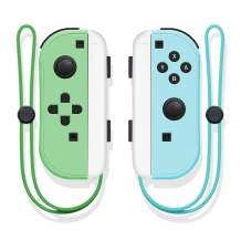 SINGLAND Wireless Controller for Nintendo Switch,Proslife L/R Joycon with Wrist Strap,Wireless Switch Remotes Alternatives for Nintendo Switch Controllers (Green and Blue)