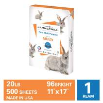 Hammermill Fore Multi-Purpose 20lb Copy Paper, 11 x 17, 1 Ream, 500 Sheets, Made in USA, Sustainably Sourced From American Family Tree Farms, 96 Bright, Acid Free, Economical Printer Paper, 103192R
