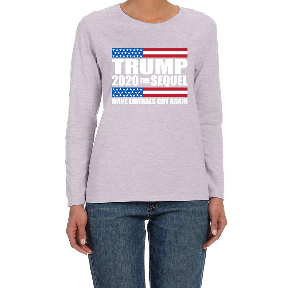 CLOTHING WORLD Trump 2020 The Sequel Make Liberals cry Again Women's Long Sleeve T-Shirt